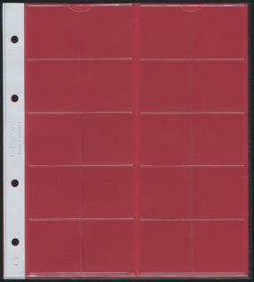 5 x LINDNER K3R Karat Münzblätter Ergänzungsblätter 20 Felder 38 mm Ø rote Zwischenblätter / ZWL