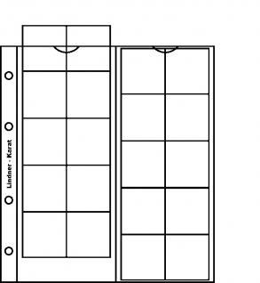 10 x LINDNER K3P Karat Münzblätter Ergänzungsblätter 20 Felder 38 mm Ø rote Zwischenblätter / ZWL - Vorschau 2