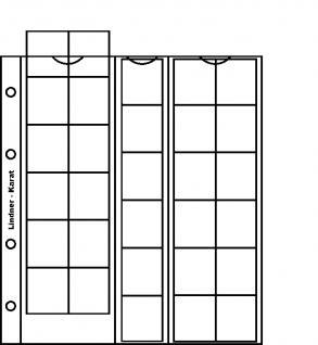 10 x LINDNER K4P Karat Münzblätter Ergänzungsblätter 30 Felder 30 mm rote Zwischenblätter / ZWL - Vorschau 1