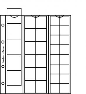 1 x LINDNER K5R Karat Münzblätter Ergänzungsblätter 22 30 38 mm Mixed rote Zwischenblätter / ZWL