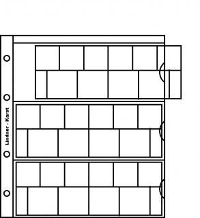 1 x LINDNER K8E Karat Münzblätter Ergänzungsblätter 3 kompl. Euro KMS Kursmünzensätze + Vordruckblatt - Vorschau 1