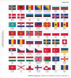 Lindner 14 Perforiertes Flaggenblatt Neue Euro Länder und Rest Europa für Karat K8 Münzblätter zum selbst gestalten - Vorschau 1