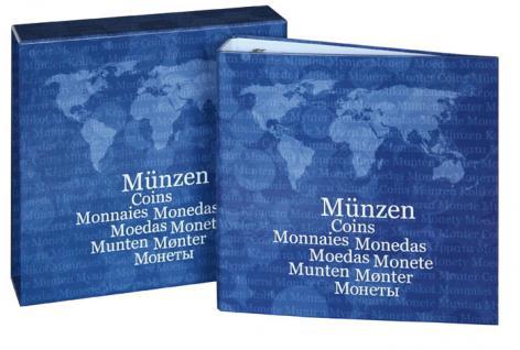 """LINDNER 1116M KARAT Münzalbum Ringbinder """" BASIC"""" + 5 Münzhüllen Karat für 119 Münzen + Kassette - Vorschau 3"""