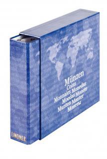 """LINDNER 1116M KARAT Münzalbum Ringbinder """" BASIC"""" + 5 Münzhüllen Karat für 119 Münzen + Kassette - Vorschau 5"""