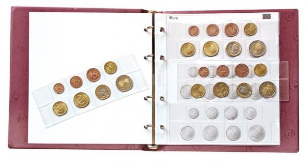 LINDNER 1105o G KARAT Münzalbum EURO Design Grün leer Platz für 10 Münzhüllen K8 zum selbst befüllen - Vorschau 4