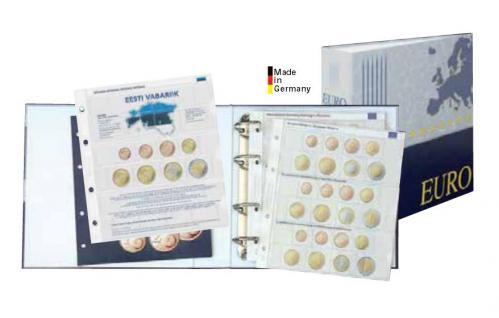 Lindner 1108M Münzalbum Vordruckalbum Euro Kursmünzensätze KMS Alle 19 Euro Länder