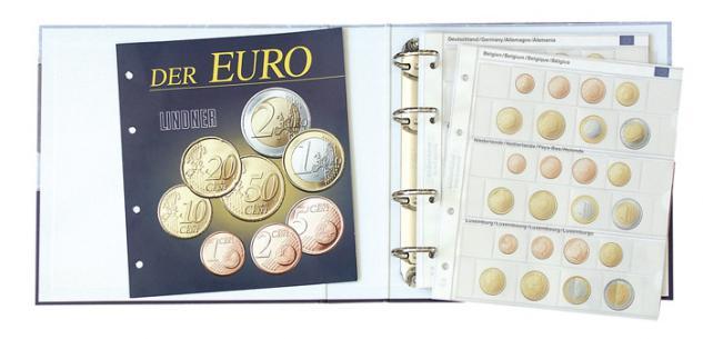 Lindner 1108E Münzalbum Vordruckalbum Euro Kursmünzensätze KMS Alle 18 Euro Länder + Kassette - Vorschau 2