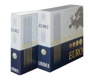 Lindner 1108E Münzalbum Vordruckalbum Euro Kursmünzensätze KMS Alle 18 Euro Länder + Kassette - Vorschau 4