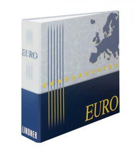 Lindner 1109 Euro Plus Ringbinder Münzalbum Album (leer) für Kursmünzensätze 2 - 2, 50 - 3 - 5 - 10 - 12 Euro Münzen