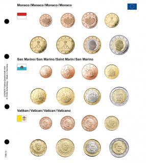 1 x Lindner 1108-13 Karat Vordruckblatt EURO Monaco / San Marino / Vatikan Kursmünzensätze KMS - Vorschau 1