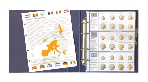 1 x Lindner 8450-13 Vordruckblatt + Münzblatt KMS Monaco / San Marino / Vatikan EURO COLLECTION - Vorschau 2