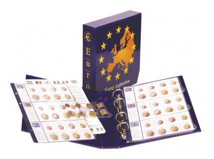 Lindner 8450 Münzalbum Vordruckalbum EURO COLLECTION Kursmünzensätze KMS mit 7 farbigen Vordruckblättern + Ergänzungsblättern