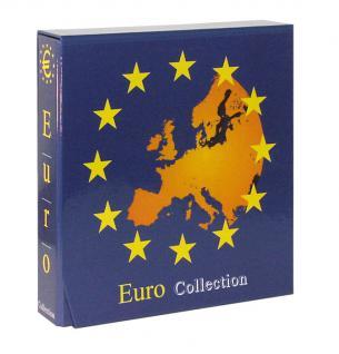 Lindner 8450L Münzalbum Vordruckalbum EURO COLLECTION Kursmünzensätze KMS + Kassette (leer) zum selbst befüllen