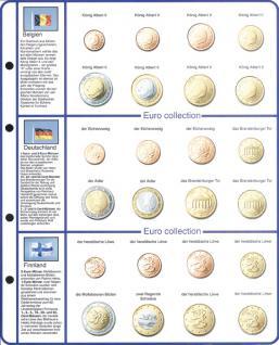 1 x Lindner 8450-1 Vordruckblatt + Münzblatt KMS Belgien / Deutschland / Finnland für Münzalbum EURO COLLECTION