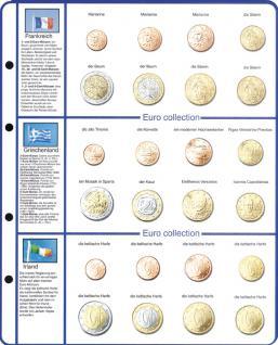 1 x Lindner 8450-4 Vordruckblatt + Münzblatt KMS Frankreich / Griechenland / Irland EURO COLLECTION - Vorschau 1