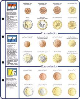 1 x Lindner 8450-13 Vordruckblatt + Münzblatt KMS Monaco / San Marino / Vatikan EURO COLLECTION