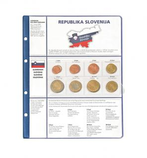 1 x Lindner 8450-16 Vordruckblatt + Münzblatt 3 KMS Slowenien Kursmünzensätze EURO COLLECTION