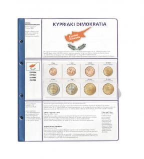 1 x Lindner 8450-18 Vordruckblatt + Münzblatt 3 KMS Zypern Kursmünzensätze EURO COLLECTION - Vorschau 1