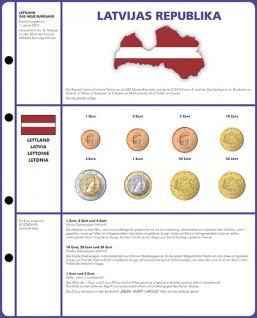 1 x Lindner 8450-21 Vordruckblatt + Münzblatt 3 KMS Lettland Kursmünzensätze EURO COLLECTION - Vorschau 1