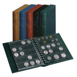 LINDNER 1103MY-W Penny Münzalbum Album Weinrot Rot 10 Münzhüllen I II III IV für Münzen bis 70 mm Mixed