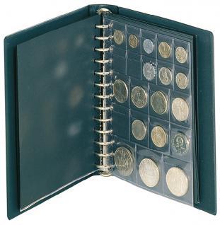 LINDNER 1103MY-G Penny Münzalbum Album Grün 10 Münzhüllen I II III IV für Münzen bis 70 mm Mixed - Vorschau 2