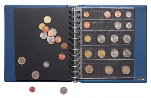 LINDNER 1103MY - S Penny Münzalbum Album Schwarz 10 Münzhüllen I II III IV für Münzen bis 70 mm Mixed - Vorschau 3