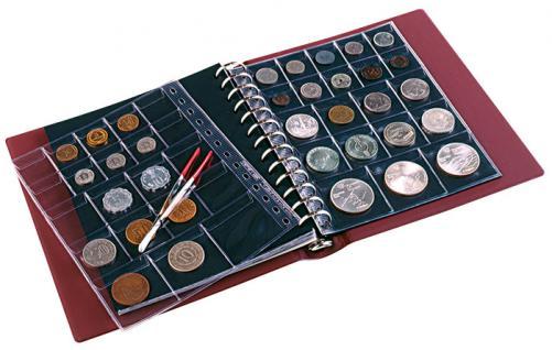 LINDNER 1103MY - S Penny Münzalbum Album Schwarz 10 Münzhüllen I II III IV für Münzen bis 70 mm Mixed - Vorschau 4
