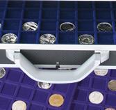SAFE 268 -185 Alu Münzkoffer mit 6 Tableaus für 36 x EURO Münzen KMS Kursmünzensätze 1, 2, 5, 10, 20, 50 Cent - 1, 2 EURO in Münzkapseln - Vorschau 4