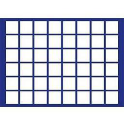 1 x SAFE 184 Blaue Münztableaus 48 eckige Fächer für Münzen bis 33 mm ideal für 2 Euro in Münzkapseln 26 & 10 Euro DM Deutschland