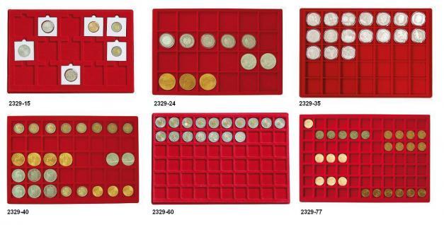 1 x SAFE 186 Blaue Münztableaus 24 eckige Fächer für Münzen bis 46mm ideal für Kanada Dollar Maple Leaf & Münzkapseln 38 - 39 - 40 - Vorschau 3