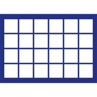 1 x SAFE 186 Blaue Münztableaus 24 eckige Fächer für Münzen bis 46mm ideal für Kanada Dollar Maple Leaf & Münzkapseln 38 - 39 - 40