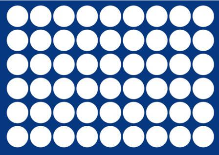1 x SAFE 189 Blaue Münztableaus 54 runde Fächer für Münzen bis 29, 5 mm für 5 Euro DM Mark Münzen & Münzkapseln bis 23, 5 mm