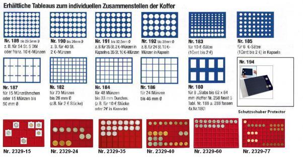 SAFE 169 - 190 Holz Münzkoffer Premium im Wurzelholz Design 6 Tableaus 240 runde Fächer 26 mm 2 Euro Münzen & Münzkapseln 20 - Vorschau 5