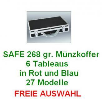 SAFE 268 PLUS ALU Münzkoffer DIAMANT SCHWARZ 6 Tableaus - 27 verschiedene Münztableaus stehen zur FREIEN AUSWAHL
