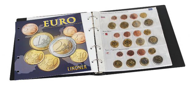 LINDNER 1608R KARAT Münzalbum Vordruckalbum Euro Münzen ( leer ) Kursmünzensätze KMS - Vorschau 2