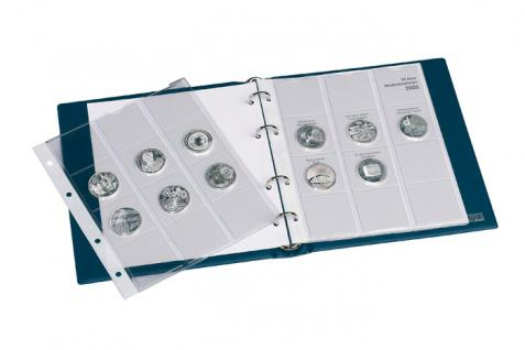 1 x LINDNER 1108D09 Einzelblatt Ergänzungsblätter K2 + Vordruckblatt 10 Euro Münzen Deutschland 2009 - Vorschau 3