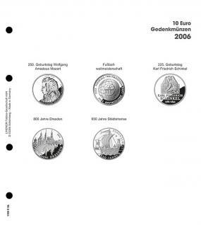 1 x LINDNER 1108D06 Einzelblatt Ergänzungsblätter K2 + Vordruckblatt 10 Euro Münzen Deutschland 2006 - Vorschau 1