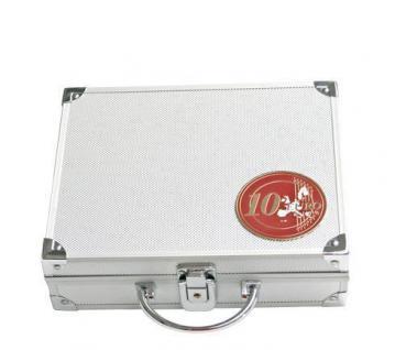 SAFE 175 PLUS ALU Münzkoffer mit 9 Tableaus 6332 für 270 x 10 EURO / DM Gedenkmünzen Münzen Deutschland - Vorschau 3