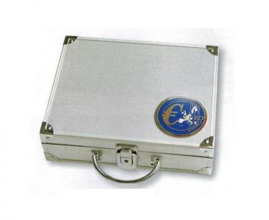 SAFE 177 ALU Münzkoffer mit 6 Tableaus 6340 für 30 x EUROMÜNZEN KMS Kursmünzensätze von 1 Cent bis 2 Euromünzen + Flaggenset - Vorschau 3