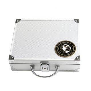 SAFE 176-0 ALU Münzkoffer Smart Universal World Coins leer für bis zu 9 Tableaus