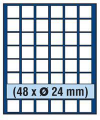 SAFE 230 - 6324 STANDARD ALU Münzkoffer SMART USA 6 Tableaus 288 quadratische Fächer 24, 5 mm für US State Quarters - Vorschau 3