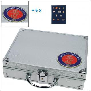 SAFE 231 - 6360 STANDAR ALU Sammelkoffer SMART Frankreich 6 Tableaus ohne Einteilung Pins Buttons Anstecknadeln Militatia Broschen