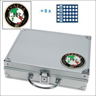 SAFE 232 - 6326 STANDARD ALU Münzkoffer SMART Italien 6 Tableaus 210 Fächer 26 mm 2 Euro Münzen