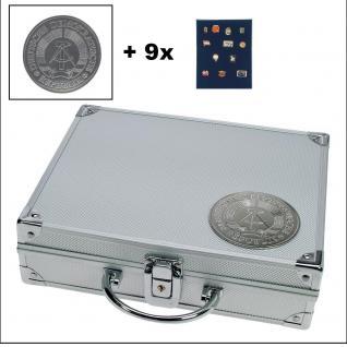 SAFE 234 PLUS ALU Sammelkoffer DDR 9 Tableaus ohne Einteilung - Pins Buttons Orden Militaria Broschen
