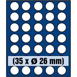 SAFE 6326 Nova Münzboxen - Schubladenelemente 35 runde Fächer 26 mm für 2 EURO Münzen