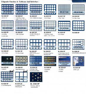 1 x SAFE 6372SP Tableaus Einsätze SMART 2 eckigen Fächern 102 x 163 mm für 2 x Epalux Sets PP DM EURO Kursmünzensätze KMS - Vorschau 2