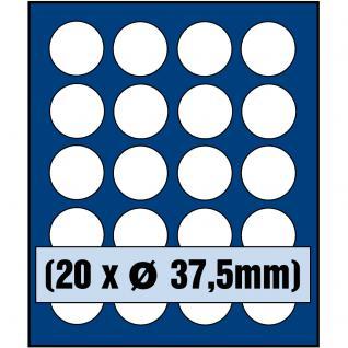 SAFE 6337 Nova Münzboxen - Schubladenelemente 20 runde Fächer 37, 5 mm für 10 - 20 Euro 10 DM Gedenkmünzen in Münzkapseln 32, 5 PP randlos