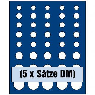 SAFE 6344 Nova Münzboxen - Schubladenelemente für 5 komplette DM Deutsche Mark Kursmünzensätze KMS 1 Pfennig - 5 DM
