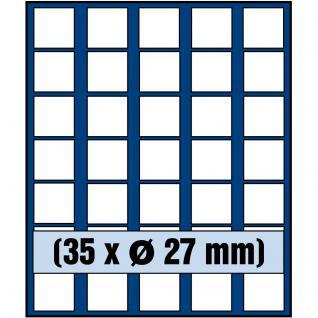 SAFE 6327 Nova Münzboxen - Sammelboxen 35 eckige Fächer 27 mm Für Geocoins & TBs Travel Bugs & Geocaching