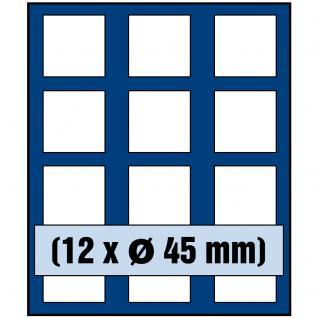 SAFE 6345 Nova Münzboxen - Schubladenelemente 12 eckige Fächer 45 mm 50 Französiche Franc & Kanada Maple Leaf in Münzkapseln